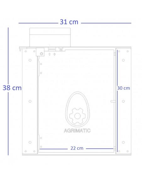 Dimensioni della porta automatica del pollaio Agrimatic